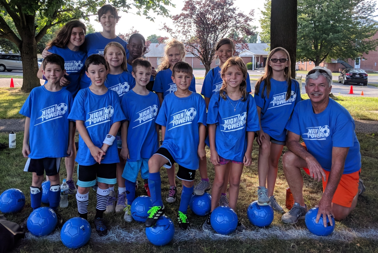 soccer camp blue team